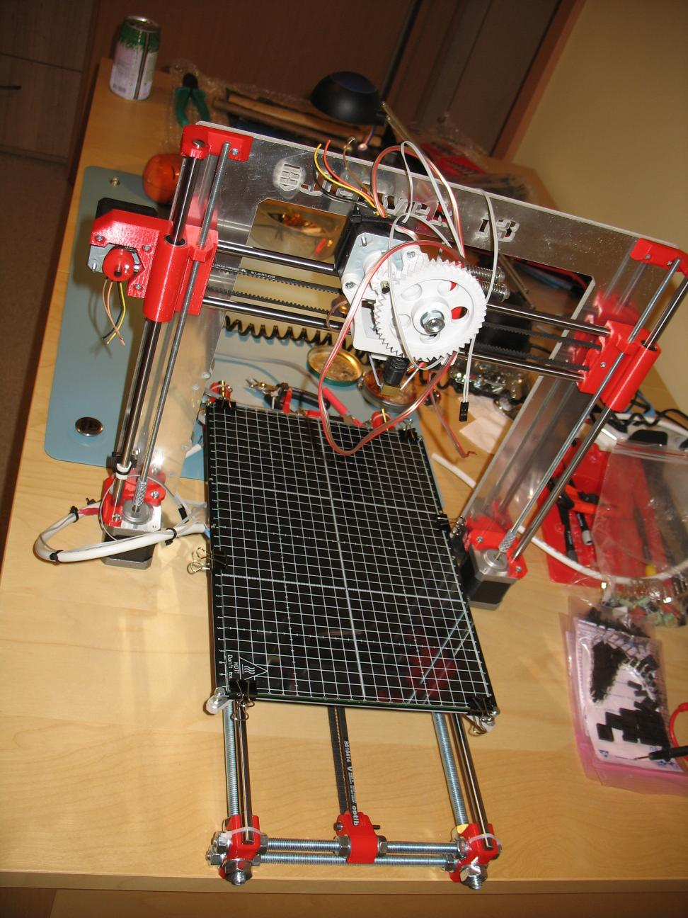 extruder, heated bed and cabling