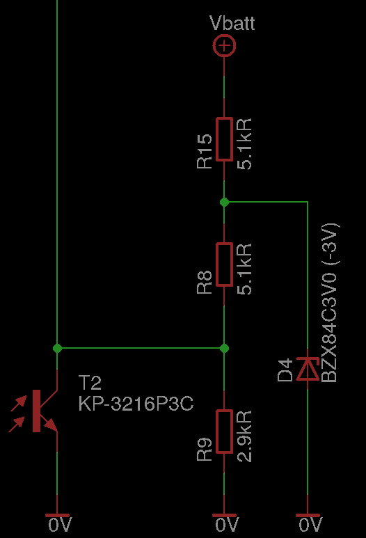 voltage divider with Zener's diode