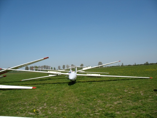 glider on Szymanow aeroclub's airport